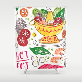 Hot Pot Shabu Shabu Soup Shower Curtain