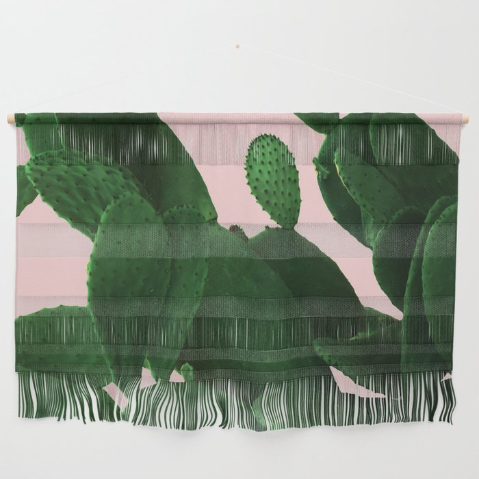 Cactus On Pink Wall Hanging