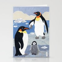 penguins Stationery Cards featuring Penguins by gnarlycat