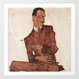 Egon Schiele - Portrait of Arthur Rossler Art Print