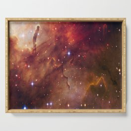 picture of star by hubble: westerlund Serving Tray