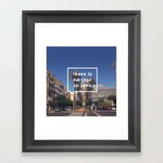 No Fear Framed Art Print