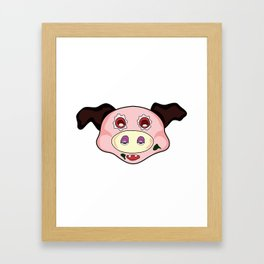 crazy pig Framed Art Print