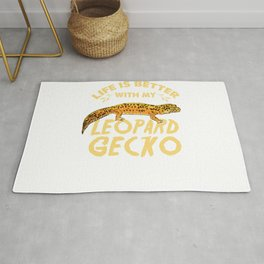 Life Is Better With My Leopard Gecko For Leopard Gecko Lover Rug