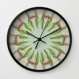 Peeped Disposition Flowers  ID:16165-093506-91430 Wall Clock