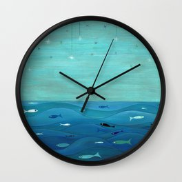 Over the waves Wall Clock