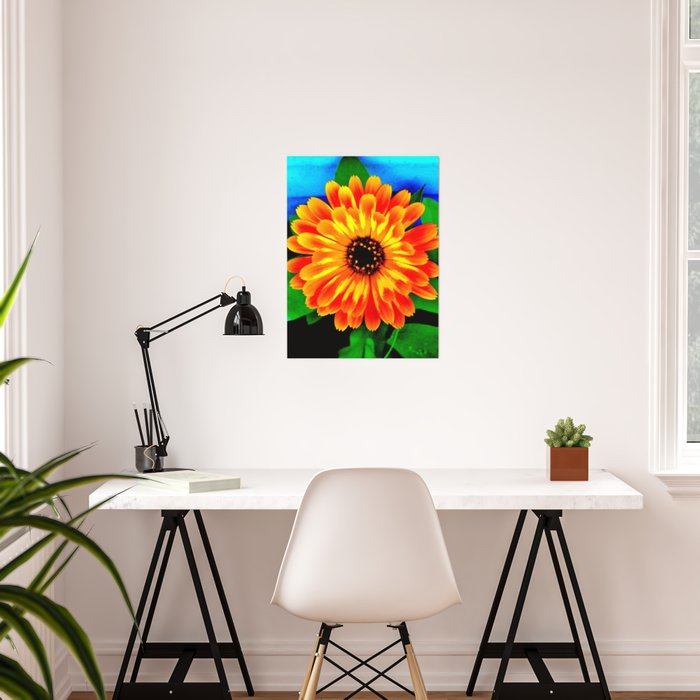 Orange Marigold Poster