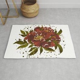 Bloom of Happiness - Earthy Terracotta Rug