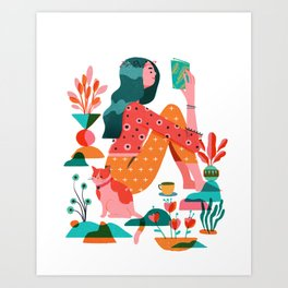Garden Lady 2 Art Print