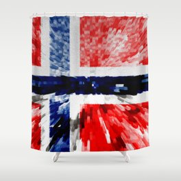 Extruded Flag of Norway Shower Curtain