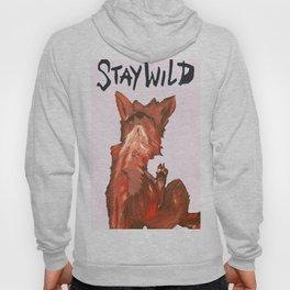 Stay Wild White Hoody