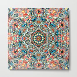 Colorful Kaleidoscope of Shapes Metal Print