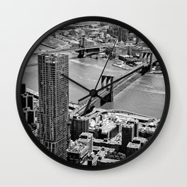 Brooklyn Bridge View - New York City Wall Clock