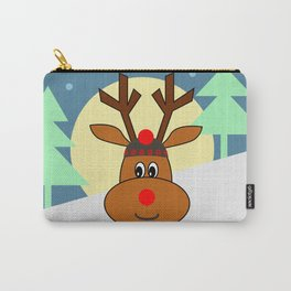 Reindeer in snow Carry-All Pouch