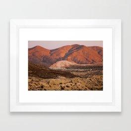 The Pinkest Sunset (Red Rock State Park, California) Framed Art Print