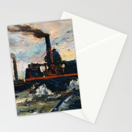 Charles-Francois Daubigny - River Boat - Digital Remastered Edition Stationery Cards