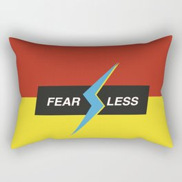 Modern geometric minimalist typography - Fearless Rectangular Pillow