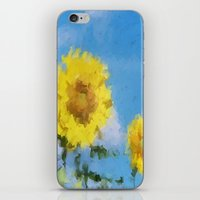 sunflowers iPhone & iPod Skins featuring Sunflowers by Paul Kimble
