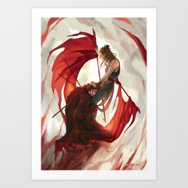 Bleeding flags Art Print