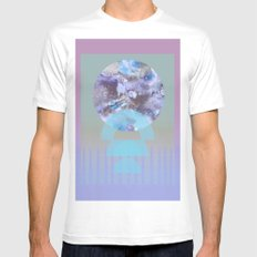 Lift Lilac Mens Fitted Tee White MEDIUM
