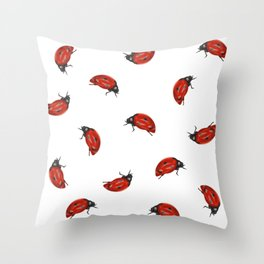 Ladybug Pattern Throw Pillow
