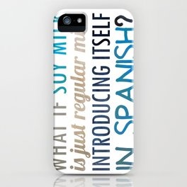 What if soy milk... iPhone Case
