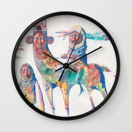 colour nomads Wall Clock