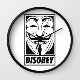 Anonymous Disobey Wall Clock