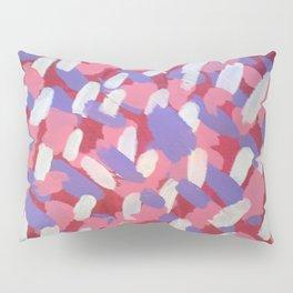 Pink and Purple Brushstrokes Art Pillow Sham