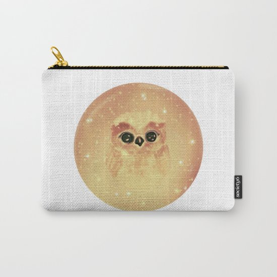baby owl white Carry-All Pouch