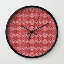 113 - red and purple pattern Wall Clock