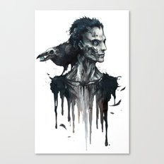 Zombie and Crow Canvas Print