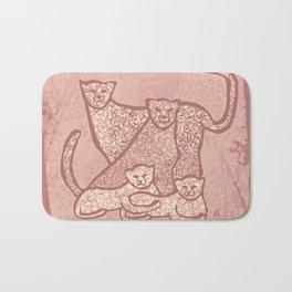 Family Cheetahs Bath Mat