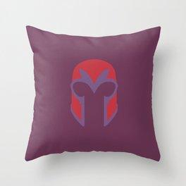 Magneto Helmet Throw Pillow