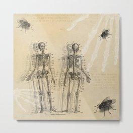 Bugs and Bones Metal Print