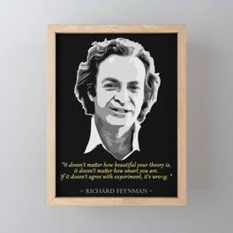 Richard Feynman Quote Framed Mini Art Print