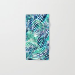 Palm Leaves - Indigo Green Hand & Bath Towel