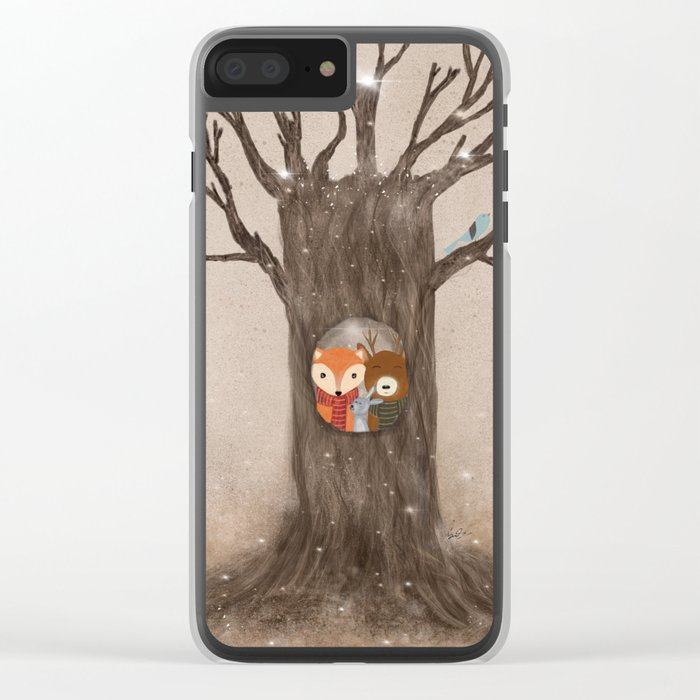 the old oak tree Clear iPhone Case