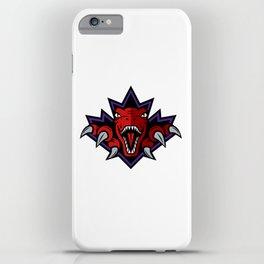 Dino Purple Leaf iPhone Case