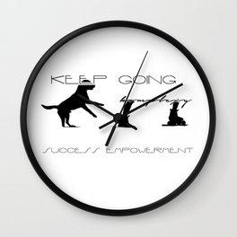 keepgoing empower Wall Clock