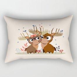 Caribous Rectangular Pillow