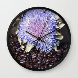 Coffeebeans & Artichoke Wall Clock
