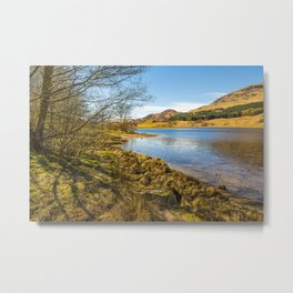 The shores of Loch Earn Metal Print