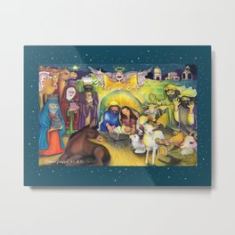 Peace on Earth Nativity Metal Print
