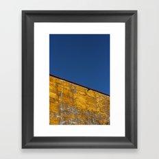 yellow-blue Framed Art Print