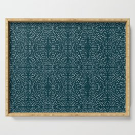 Celestial Stars Art, Teal Green, Boho Wall Art Serving Tray