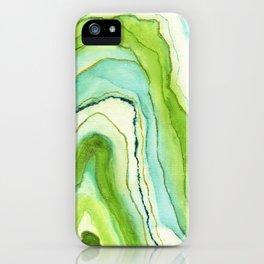 Agate Greenery iPhone Case