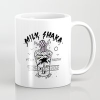 milk Mugs featuring Milk Shaka by Jamie Browne