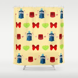 Whovian pattern print edition Shower Curtain