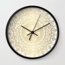 Gold Bali Mandala Wall Clock